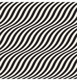 Wavy stripes seamless pattern vector image vector image