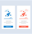 web design paper fly blue and red download and vector image