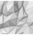 White Abstract Polygonal Background vector image vector image