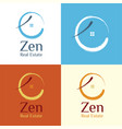 zen real estate logo vector image vector image