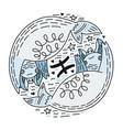 zodiac signes pisces vector image vector image