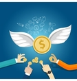 angel investor money fund management startup coin vector image