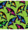 Multicolored butterflies Seamless vector image