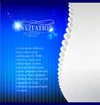 Jewelry invitation card vector image