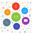 7 painting icons vector image vector image