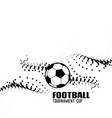 abstract football background with black particles vector image vector image