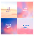 abstract light pink blurred background set vector image vector image