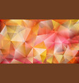 abstract low polygonal background of triangles vector image vector image