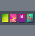 abstract modern background geometric shapes and vector image vector image