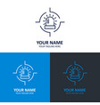 alarm logo design with typography vector image