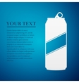 Aluminum can flat icon on blue background vector image vector image