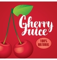 banner with cherry juice vector image