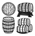barrels set of objects or design elements vector image
