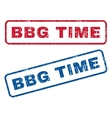 bbg time rubber stamps vector image vector image