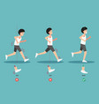 best and worst positions for running body posture vector image