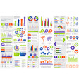 bundle infographic elements data visualization vector image vector image