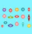 christmas baubles hanging ornaments hand drawn vector image vector image