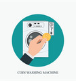 coin washing machines with integrated payment vector image vector image
