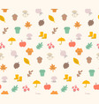 colorful autumn seamless pattern with seasonal vector image vector image