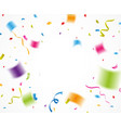 colorful confetti for celebration vector image vector image