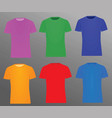 colorful t shirts vector image vector image