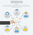 communication process infographic of email vector image vector image