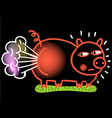 crude pig vector image vector image