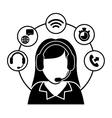 Customer service and call center vector image vector image