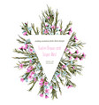 cute rustic floral greeting card wedding vector image
