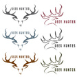 Deer hunter vintage grunge emblems set