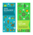 ecology flyer banner posters card set vector image vector image