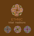ethnic collection templates vector image