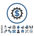Financial Industry Flat Rounded Icon With vector image vector image