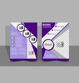 flyer design brochure templates file eps10 vector image vector image