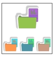 folder with report collection vector image vector image