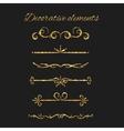 gold text dividers set ornamental decorative vector image vector image
