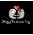 Greeting card with lovers lemurs vector image vector image