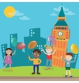 Happy Children on Vacation in London vector image vector image