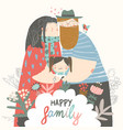 happy family father mother and daughter parents vector image vector image