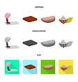 isolated object of food and yummy logo collection vector image