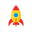 kid amusement rocket icon vector image vector image