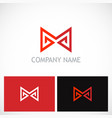 letter m triangle company logo vector image vector image
