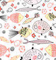 marine fish pattern vector image vector image
