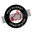 milk allergy rubber stamp vector image vector image