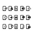 mobile phone icons set vector image vector image
