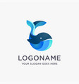 modern playful whale logo icon template vector image