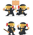 Ninja Customizable Mascot 6 vector image vector image