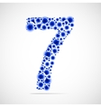 number seven made from balls vector image