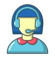 operator icon cartoon style vector image vector image