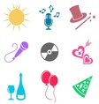 Party and entertainment icons vector image vector image